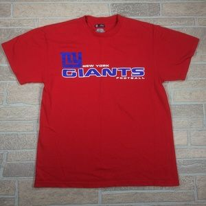 New York Giants NFL Red Cotton T Shirt